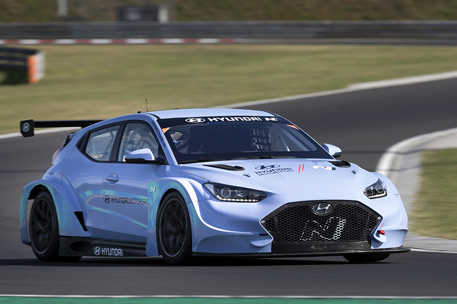 The Hyundai Veloster N ETCR tested in Hungary
